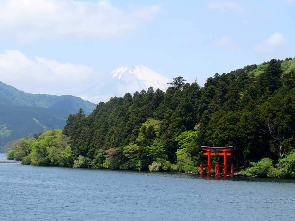 Mt Fuji from Lake Ashi, Hakone