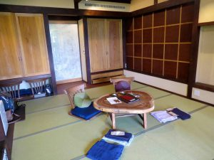 A traditional room at a Ryokan - daytime set up