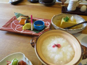 Part of a traditional breakfast at a Ryokan