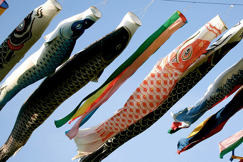 Carp Flags on Childrens' Day | © chaojikazu via Flickr