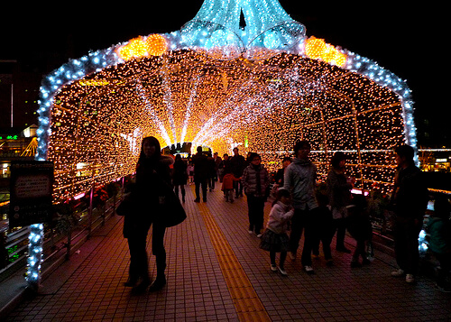 Christmas lights in Kokura | © isado via Flickr